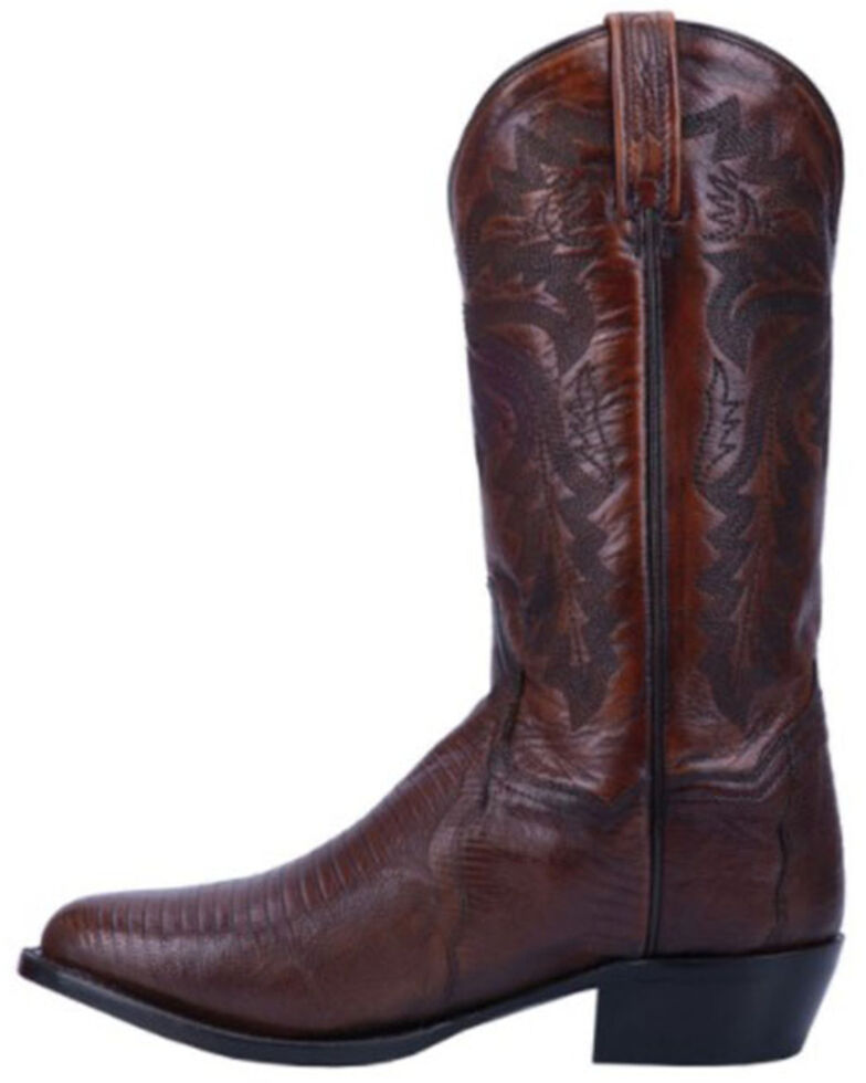 Dan Post Men's Tan Winston Lizard Western Boots - Round Toe, Tan, hi-res