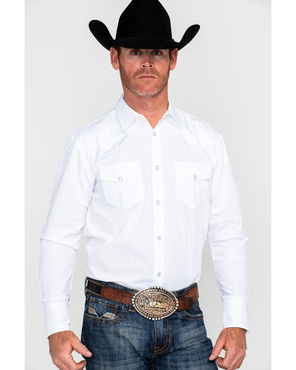 Gibson Men's Solid Long Sleeve Shirt, White, hi-res