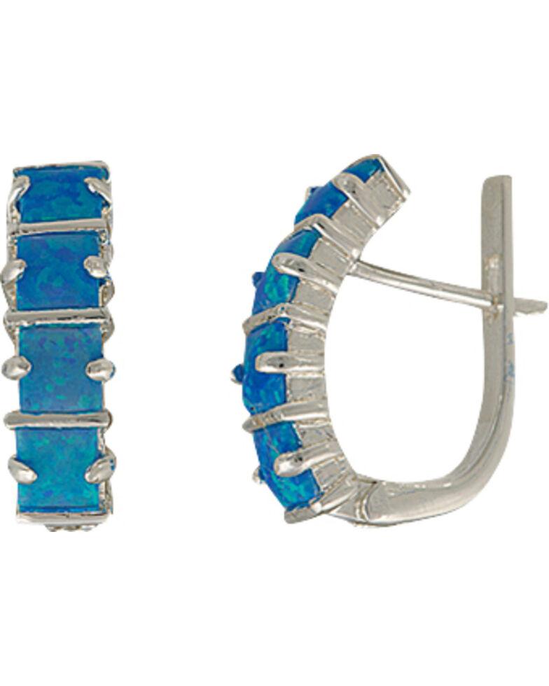 Montana Silversmiths Women's Multi Square Opal Bars Earrings, Silver, hi-res