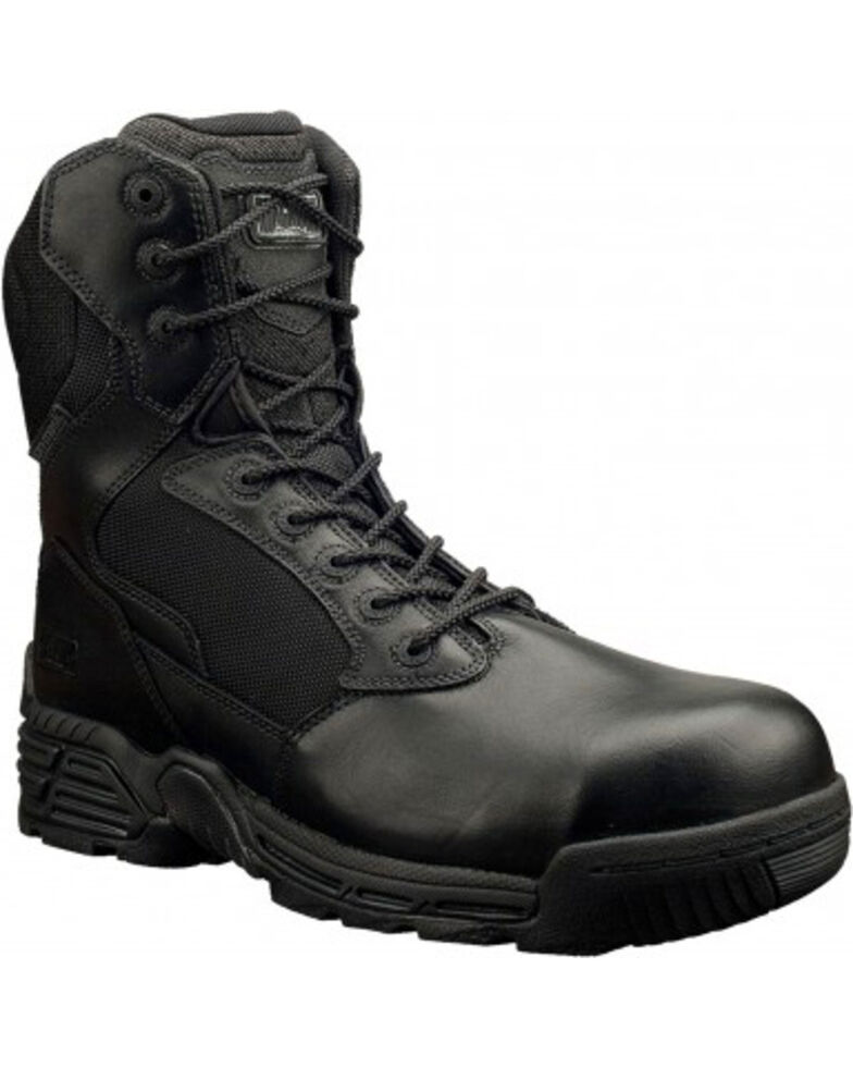 Magnum Men's Stealth Force Side Zip Composite Toe Work Boots, Black, hi-res