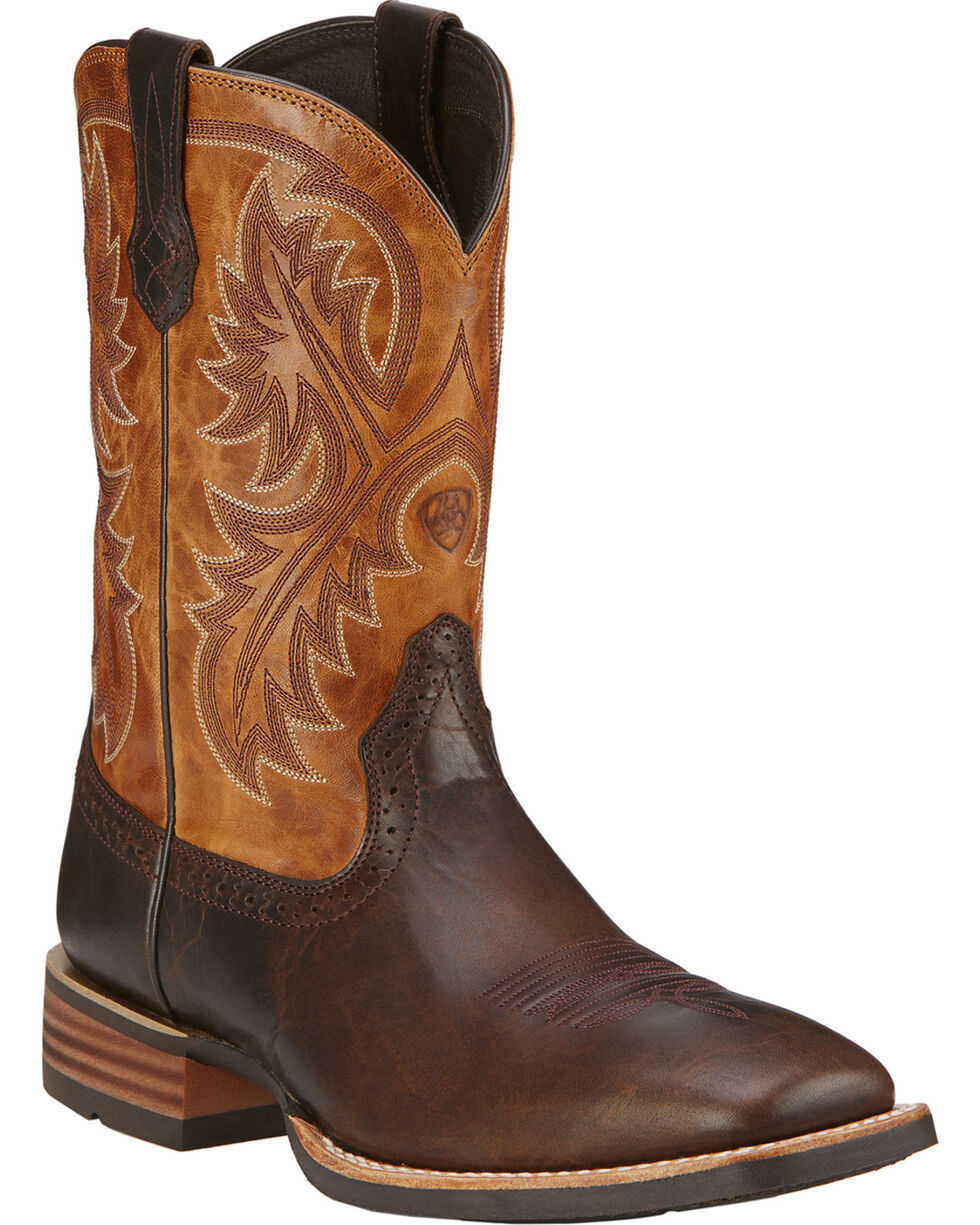 Ariat Men's Quickdraw Western Boots, Brown, hi-res