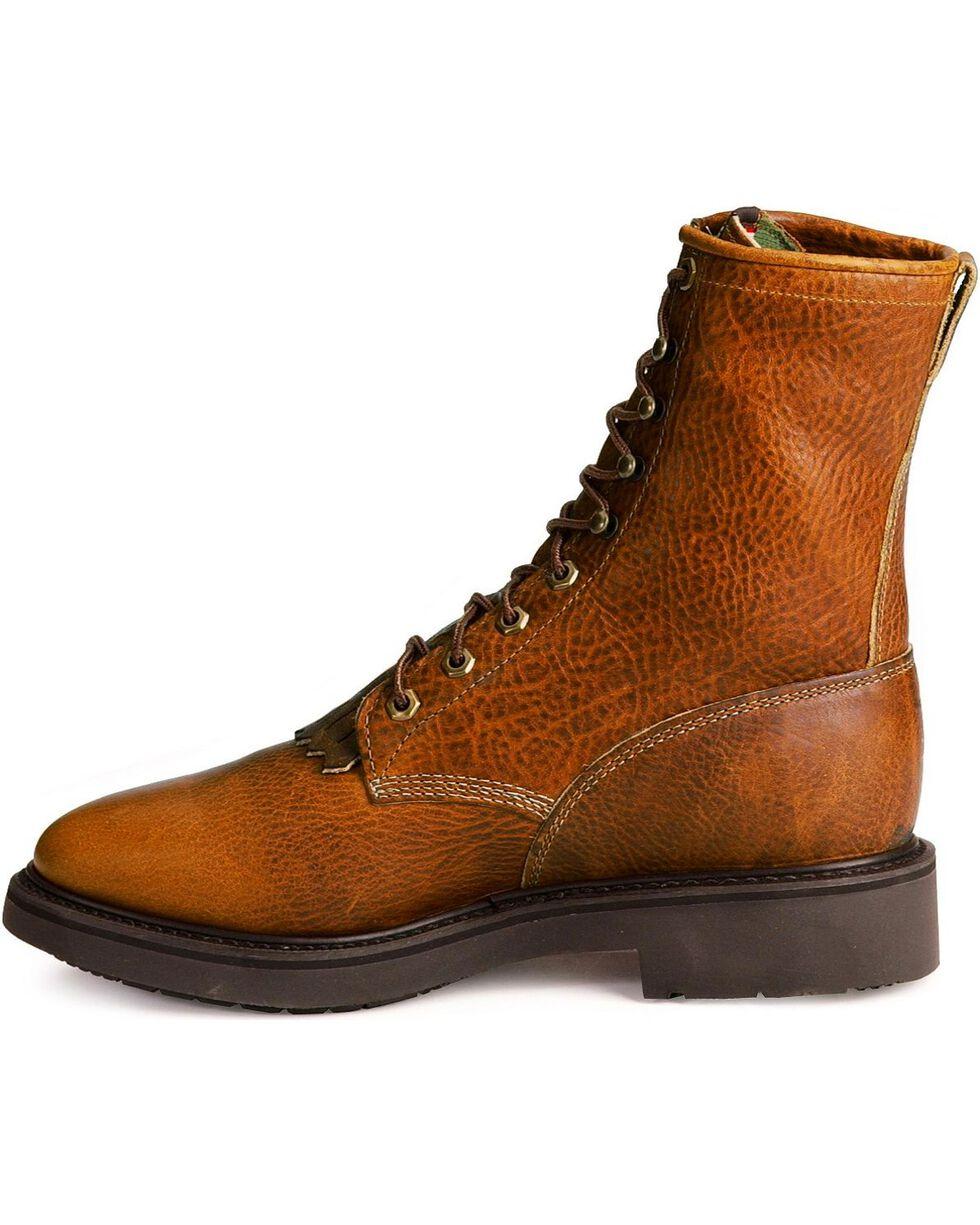"Justin Men's 8"" Lace Up Steel Toe Work Boots, Copper, hi-res"