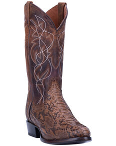 Dan Post Men's Manning Western Boots - Round Toe, Brown, hi-res