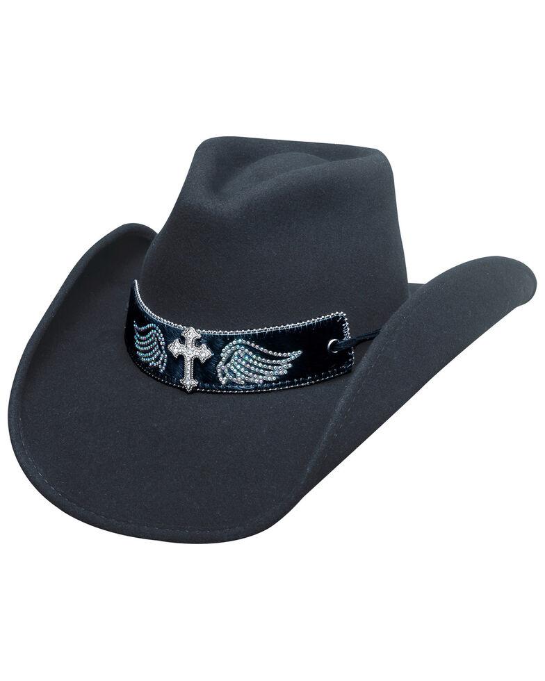 Bullhide Women's State Of Grace Wool Hat, Black, hi-res