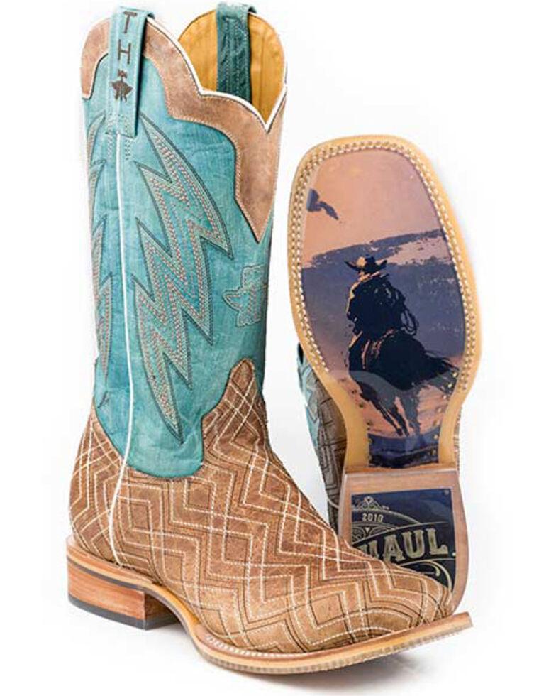Tin Haul Men's Matrix Western Boots - Wide Square Toe, Tan, hi-res