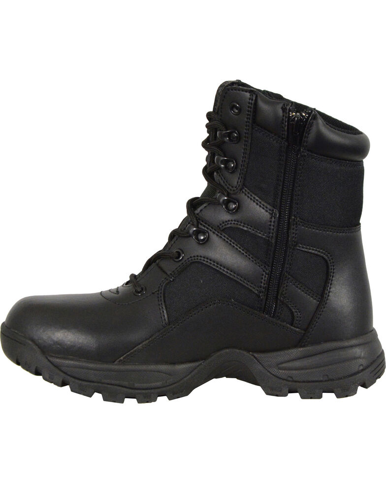 Milwaukee Leather Men's Lace To Toe Tactical Boots - Round Toe, Black, hi-res