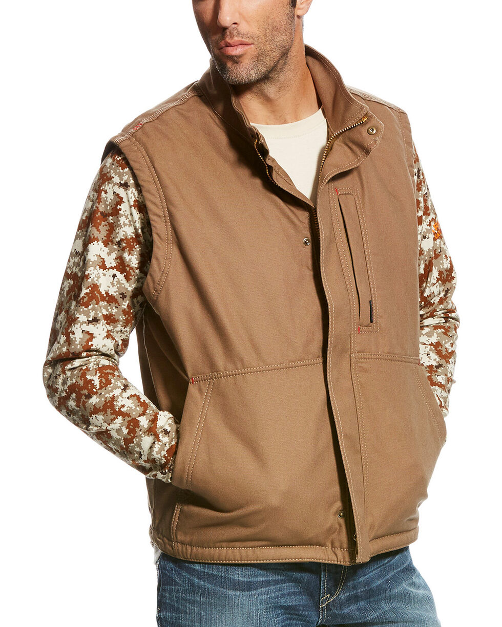 Ariat Men's Field Khaki FR Workhorse Vest, , hi-res