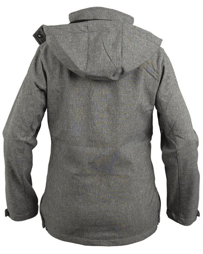STS Ranchwear Women's Grey Barrier Softshell Hooded Jacket - Plus, Light Grey, hi-res