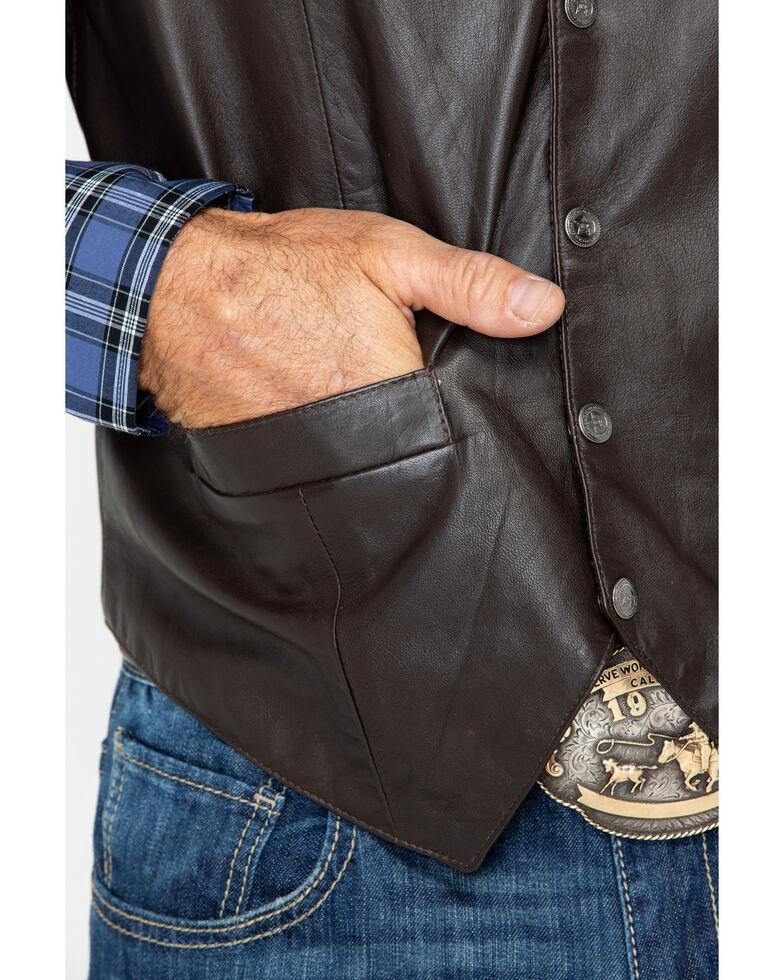 Scully Men's Lamb Leather Vest, Brown, hi-res