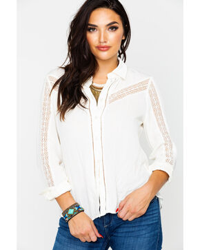 Idyllwind Women's Not So Western Top , Ivory, hi-res