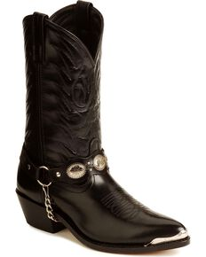 Laredo Men's Tallahassee Western Boots, Black, hi-res