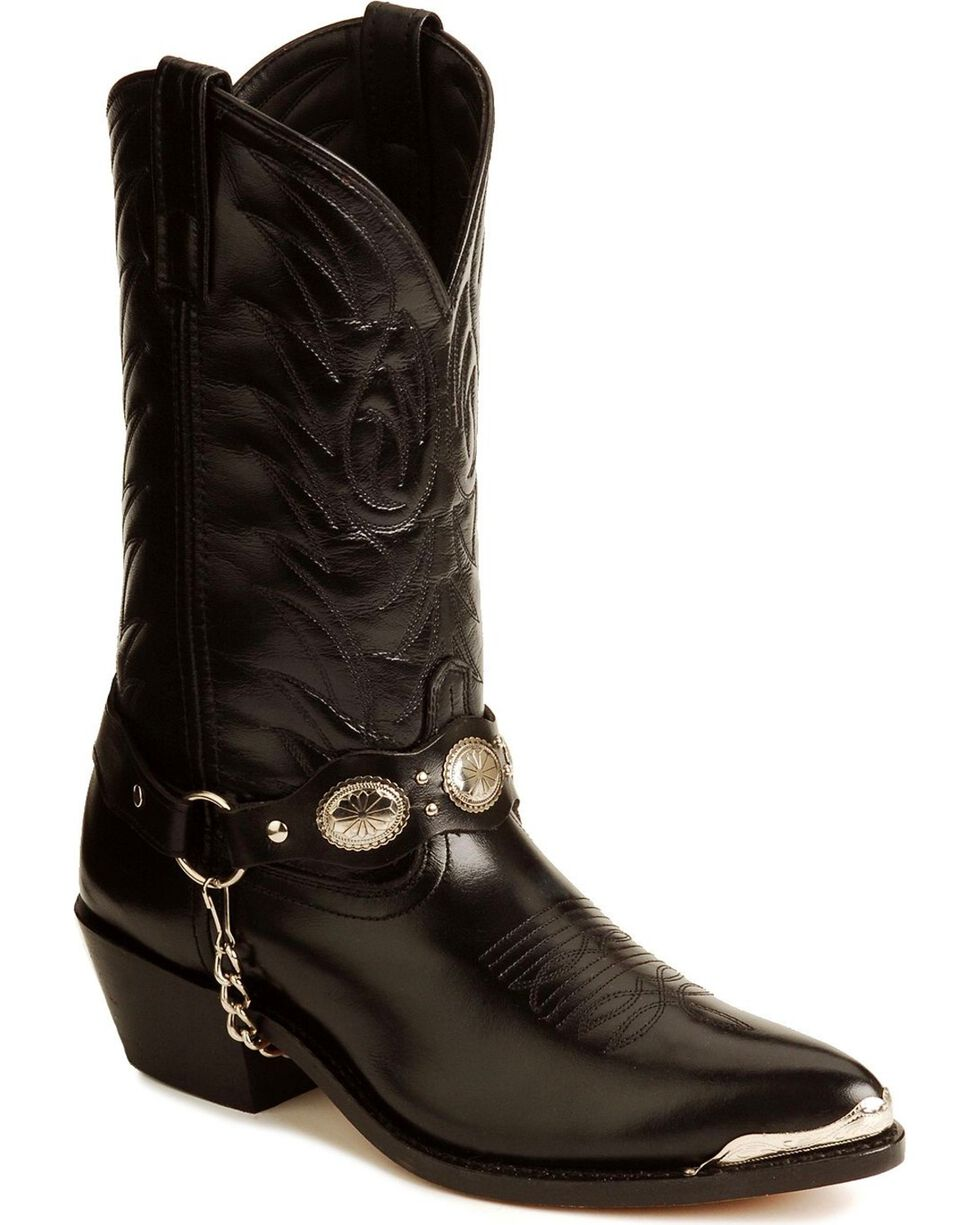 "Laredo 62009 Hoxie Side Zip 7/"" Short Dress French Toe Cowboy Boot"