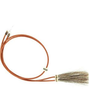 Light Brown Leather with Horsehair Stampede String, Brown, hi-res