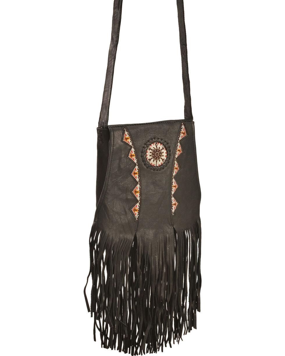 Kobler Leather Black Shoulder Bag, Black, hi-res