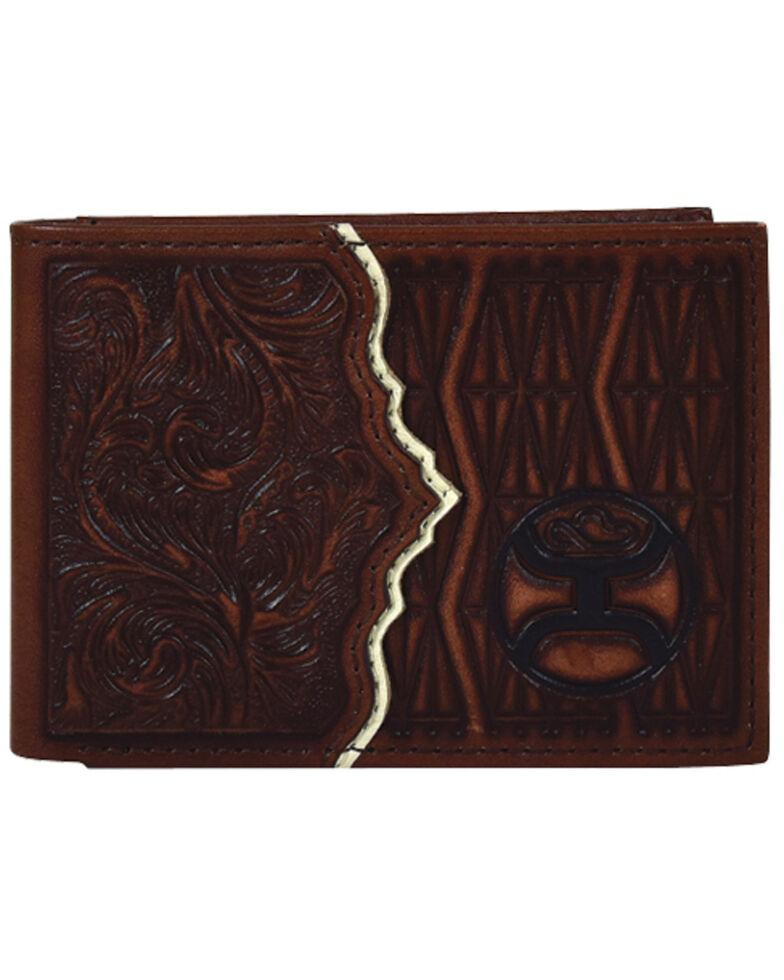 HOOey Men's Roughy Signature Bifold Wallet, Brown, hi-res