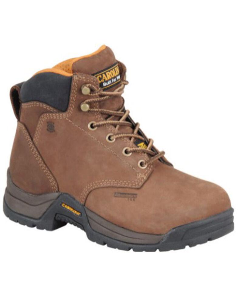 Carolina Women's Raleigh Metguard Work Boots, Brown, hi-res