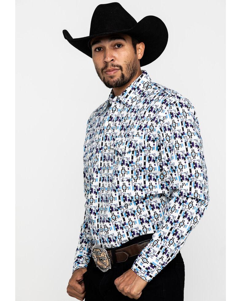 Wrangler 20X Men's Advanced Comfort Purple Aztec Print Long Sleeve Western Shirt , Purple, hi-res