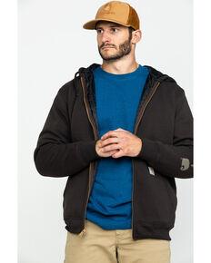 Carhartt Men's Midweight Hooded Zip-Front Work Sweatshirt , Dark Brown, hi-res