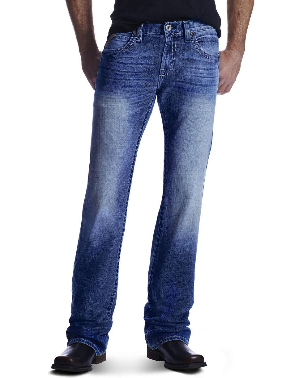 Ariat Men's Shotwell Cinder Jeans, Med Blue, hi-res