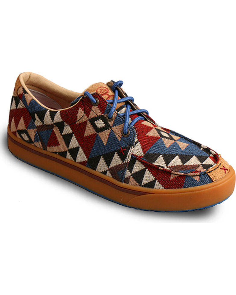 HOOey Lopers by Twisted X Men's Graphic Pattern Canvas Casual Shoes, Multi, hi-res