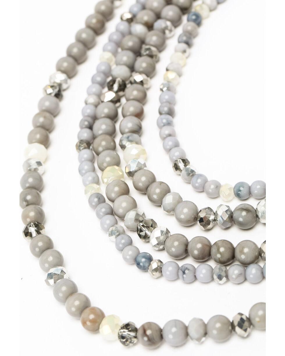Shyanne Women's Slate Sparkle Multi Beaded Necklace, Slate, hi-res