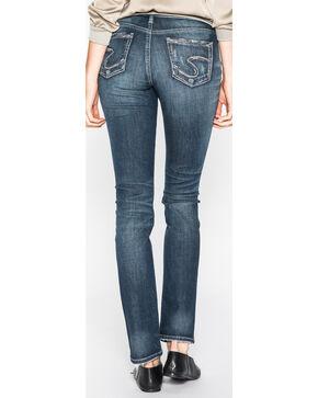Silver Women's Elyse Dark Wash Straight Leg Jeans , Indigo, hi-res