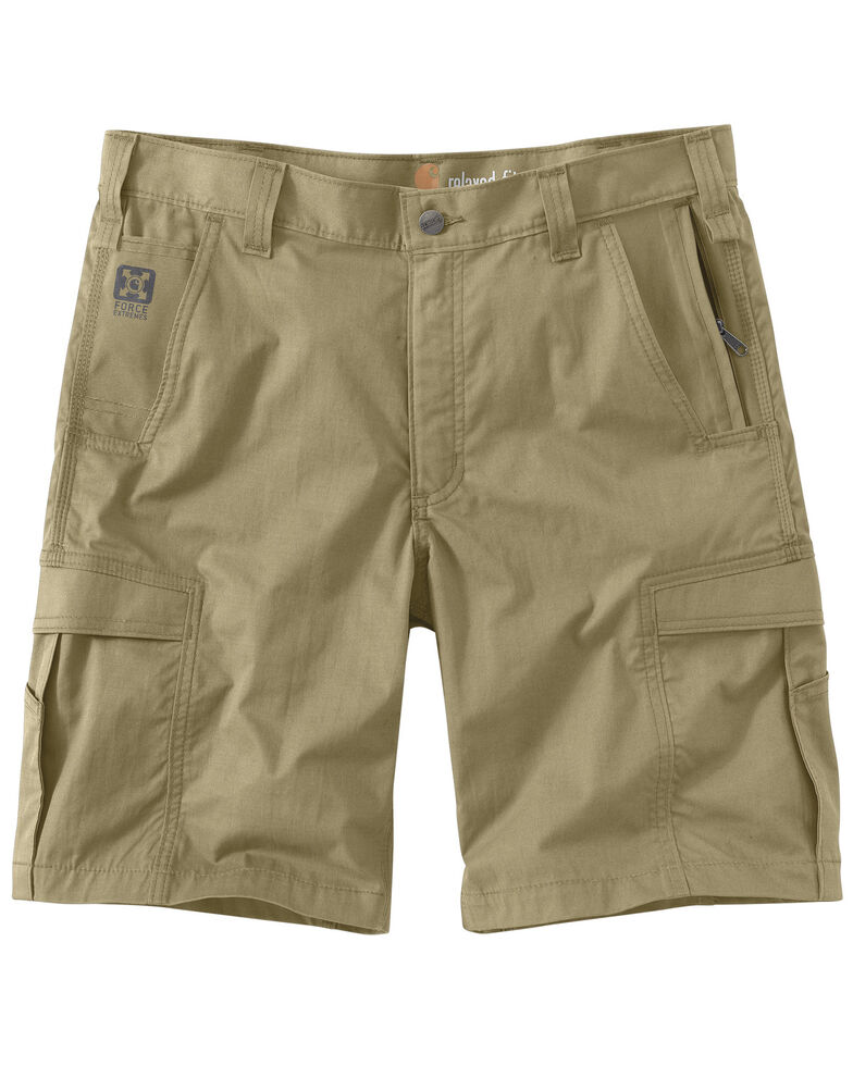 Carhartt Men's Dark Khaki Force Extremes Cargo Shorts , Khaki, hi-res