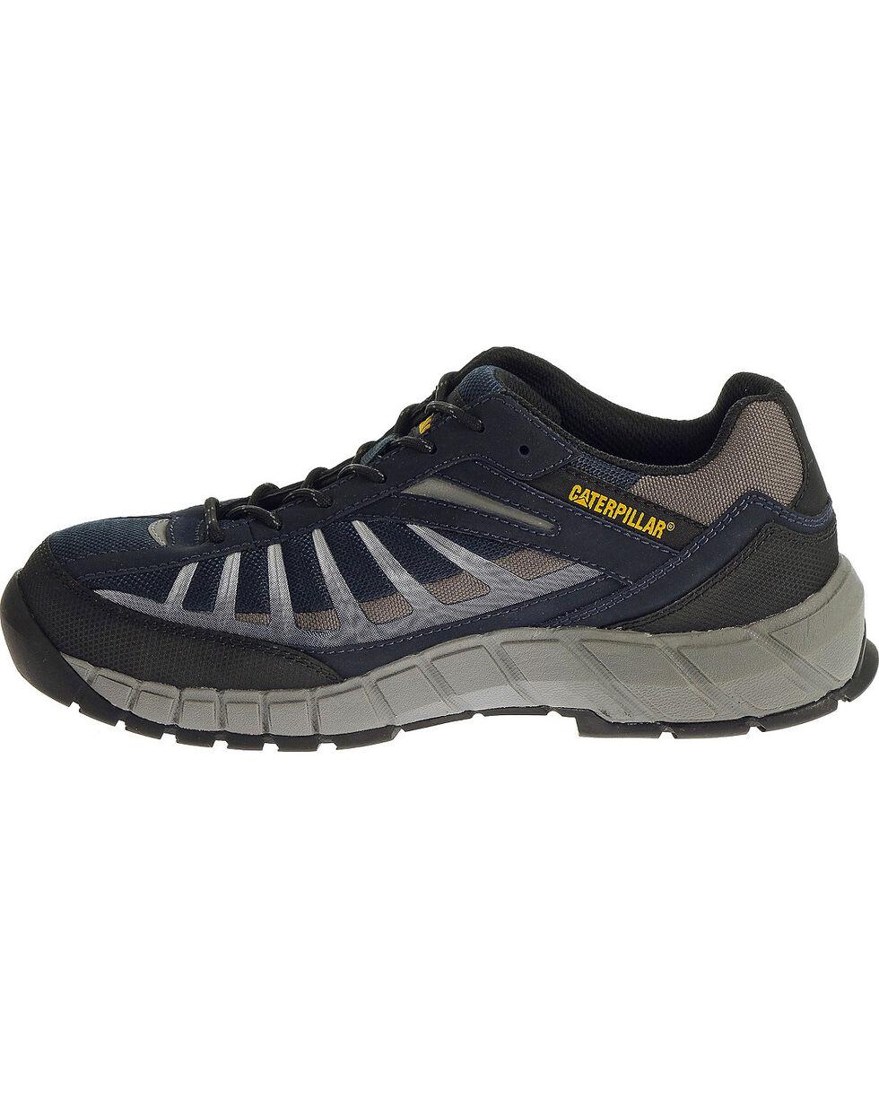 CAT Men's Infrastructure Steel Toe Work Shoes, Navy, hi-res