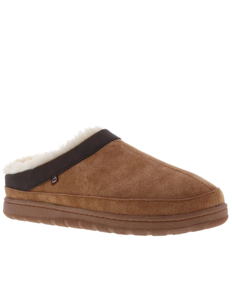 Lamo Footwear Men's Julian Clog Slippers - Round Toe, Chestnut, hi-res
