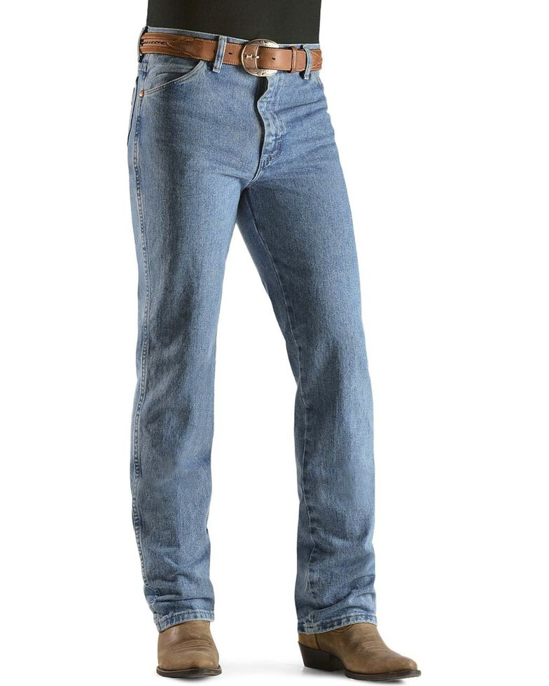 Wrangler Men's Cowboy Cut Slim Fit Jeans, Antique Blue, hi-res