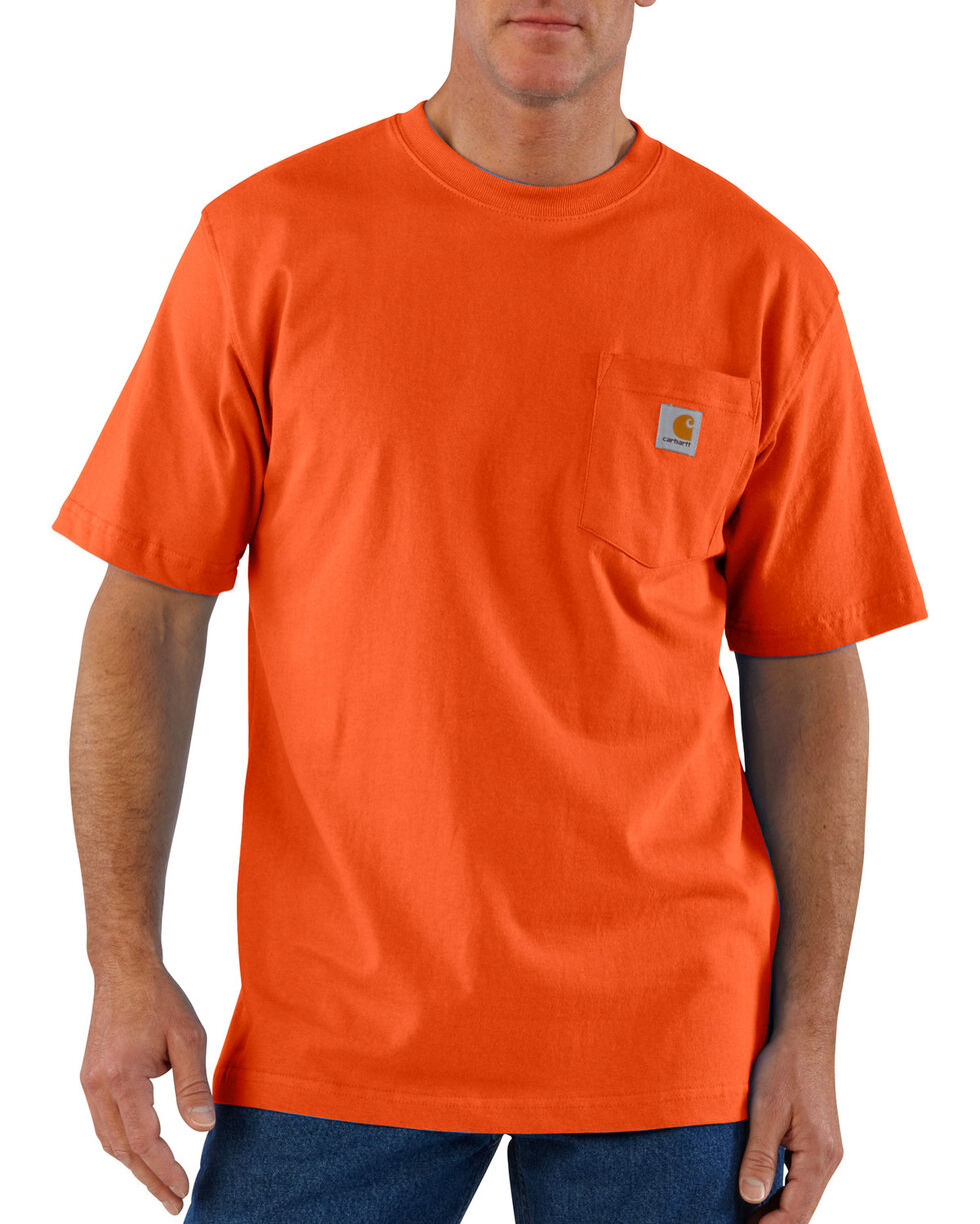 Carhartt Short Sleeve Pocket Work T-Shirt, Orange, hi-res