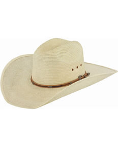 Larry Mahan Men's Montgomery Guatemalan Palm Cowboy Hat, Natural, hi-res