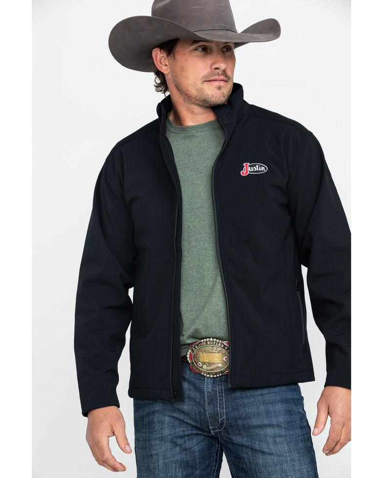 Justin Men's Black Laminated Bonded Jacket , Black, hi-res