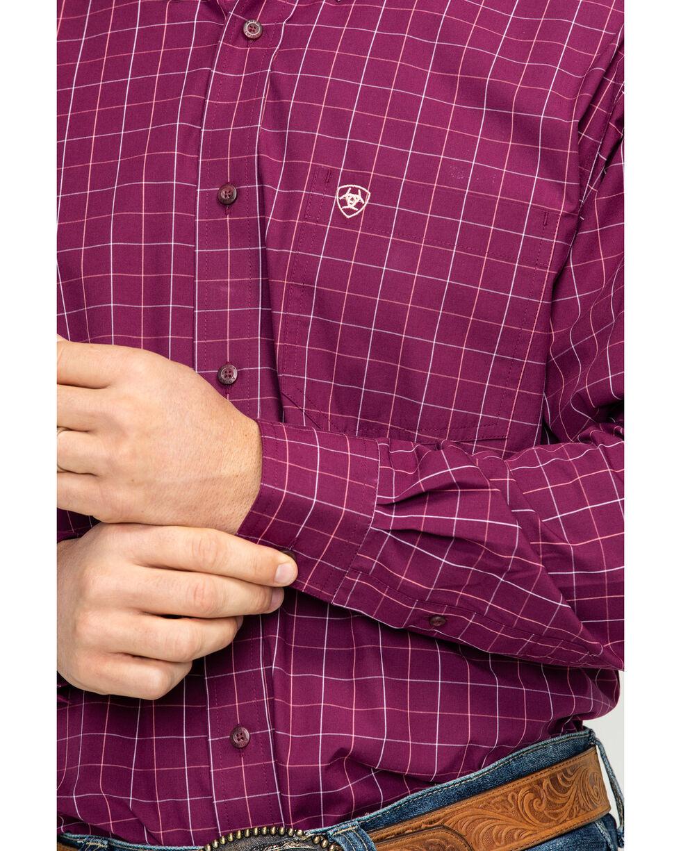 Ariat Men's Dunn Purple Dahlia Print Long Sleeve Western Shirt - Big & Tall , Purple, hi-res