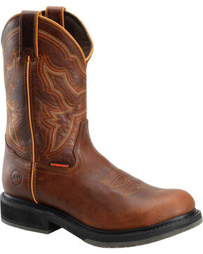 "Double H Men's 11"" Ice Roper Boots - Composite Toe , Brown, hi-res"