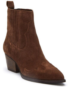 Matisse Women's Avery Brown Fashion Booties - Snip Toe, Brown, hi-res