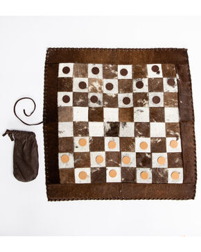 BB Ranch Cowhide Checkers Game, Multi, hi-res