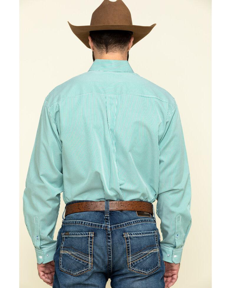 Cinch Men's Green Tencel Striped Long Sleeve Western Shirt , Green, hi-res