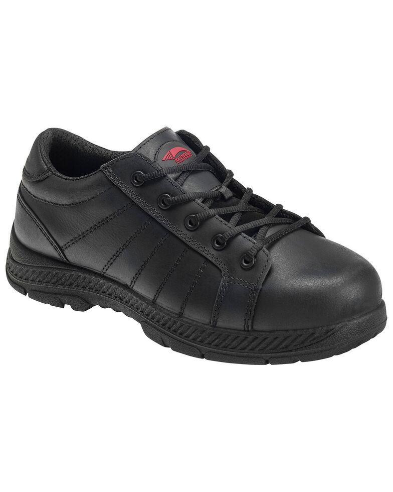 Avenger Men's Slip Resistant Oxford Work Shoes - Steel Toe, Black, hi-res