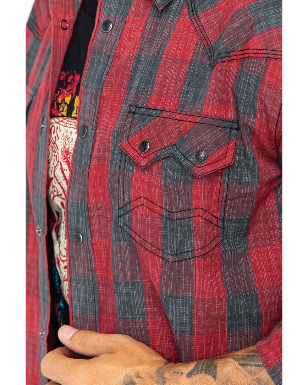 Moonshine Spirit Men's Arena Long Sleeve Western Shirt, Red, hi-res