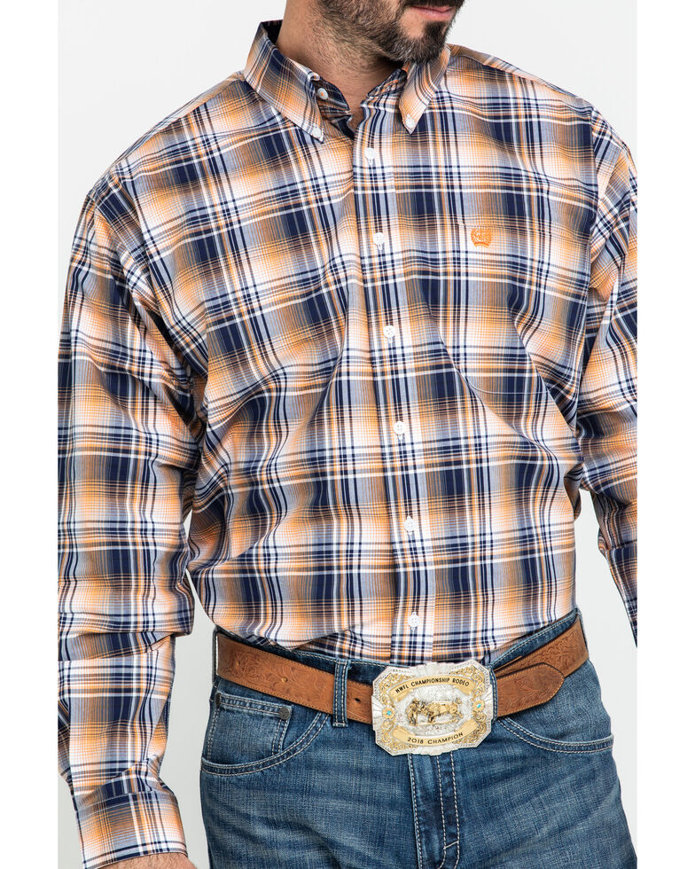 Cinch Men's Multi Plaid Plain Weave Long Sleeve Western Shirt , , hi-res