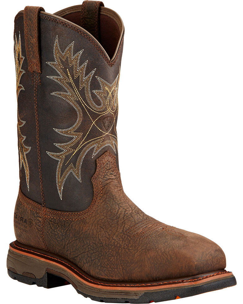 Ariat Men's Work Hog Composite Toe WP Work Boots, Brown, hi-res