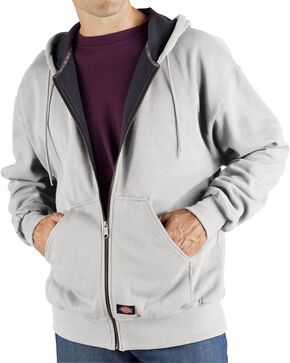Dickie's Men's Thermal Lined Fleece Hoodie, Ash Grey, hi-res