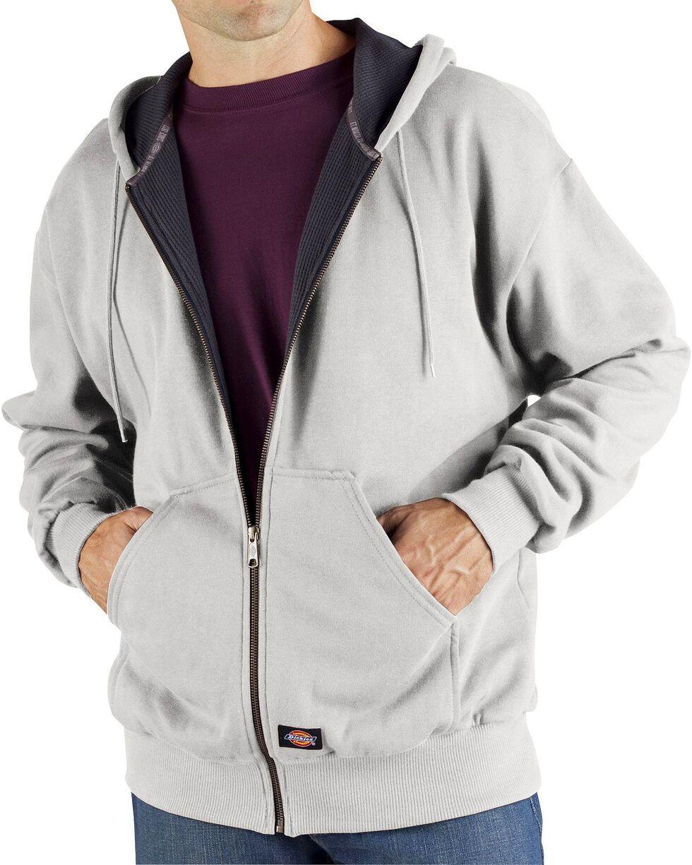 Dickie's Men's Thermal Lined Fleece Hoodie, Ash Grey, hi-res
