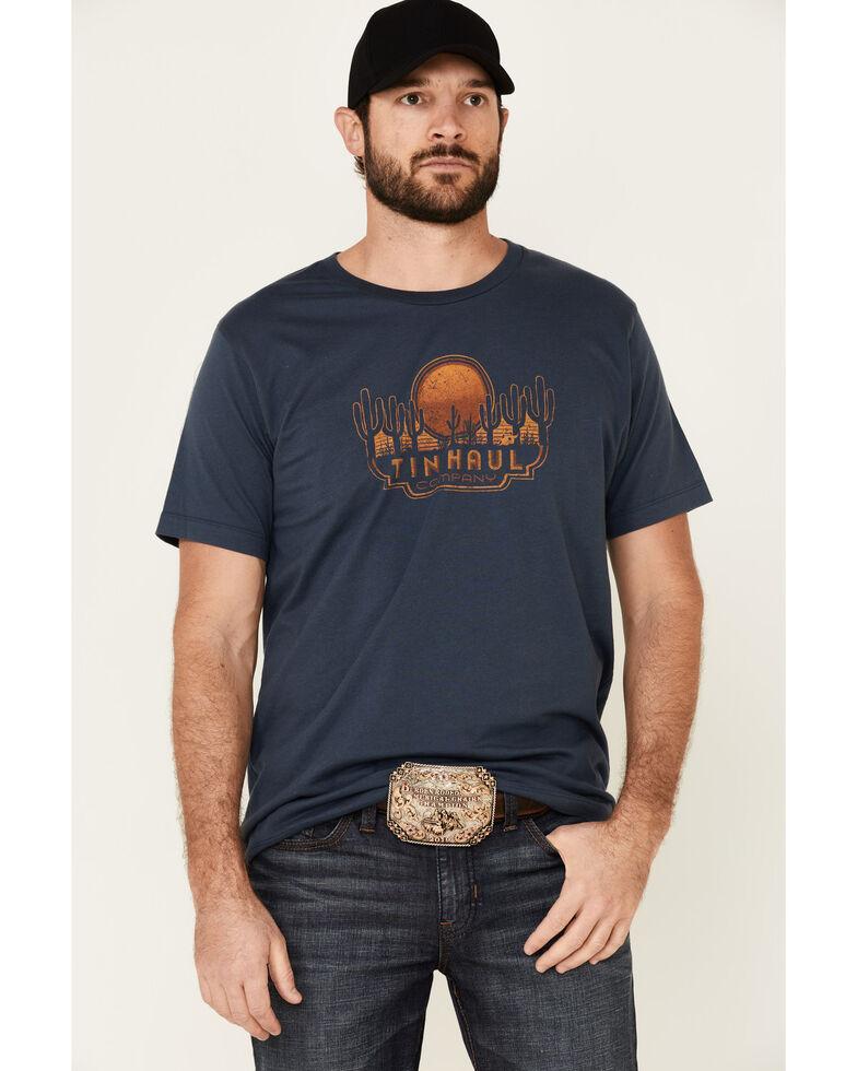 Tin Haul Men's Blue Sunset & Cactus Graphic Short Sleeve T-Shirt , Blue, hi-res