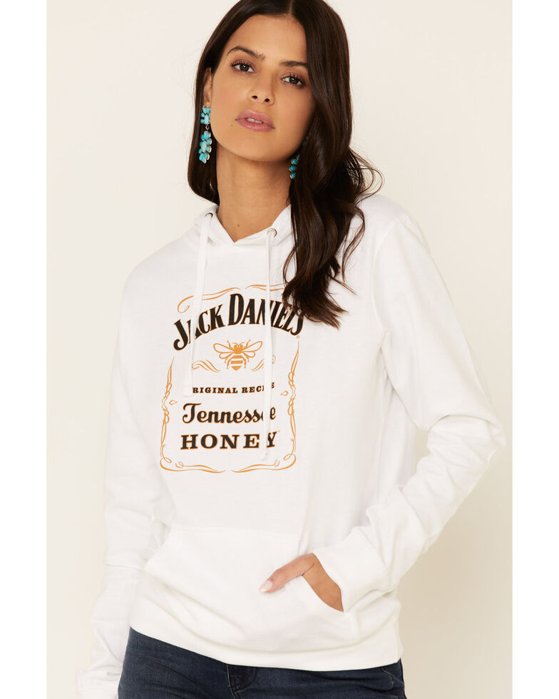 Jack Daniel's Women's Tennessee Honey Hoodie, White, hi-res