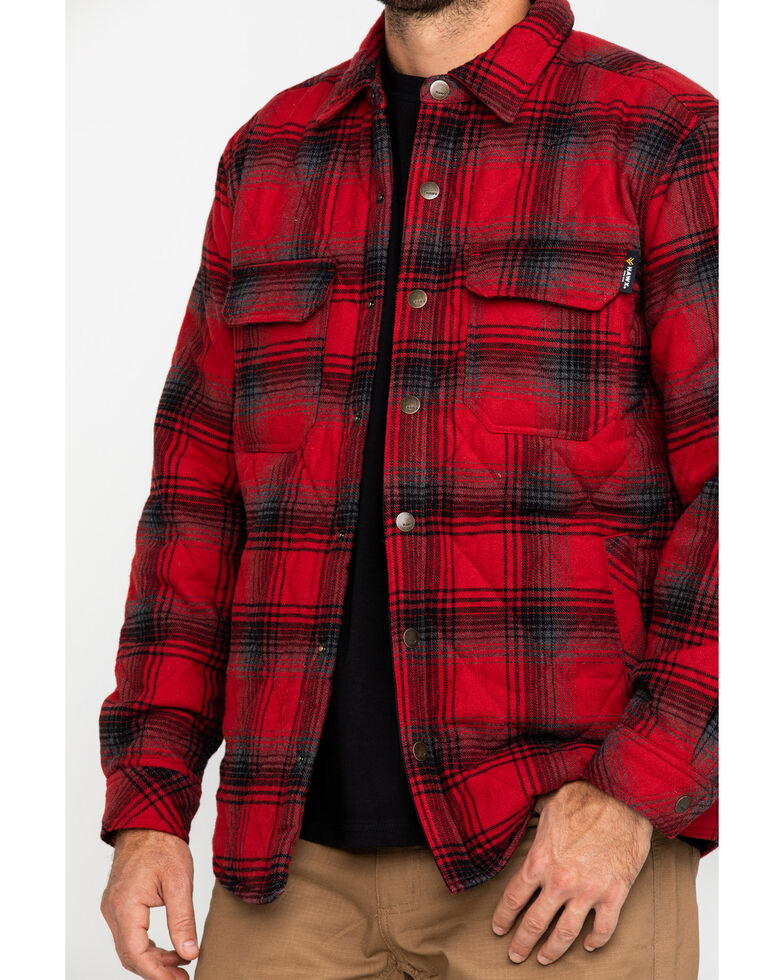 Hawx Men's Red Miller Plaid Flannel Quilted Shirt Work Jacket - Tall , , hi-res