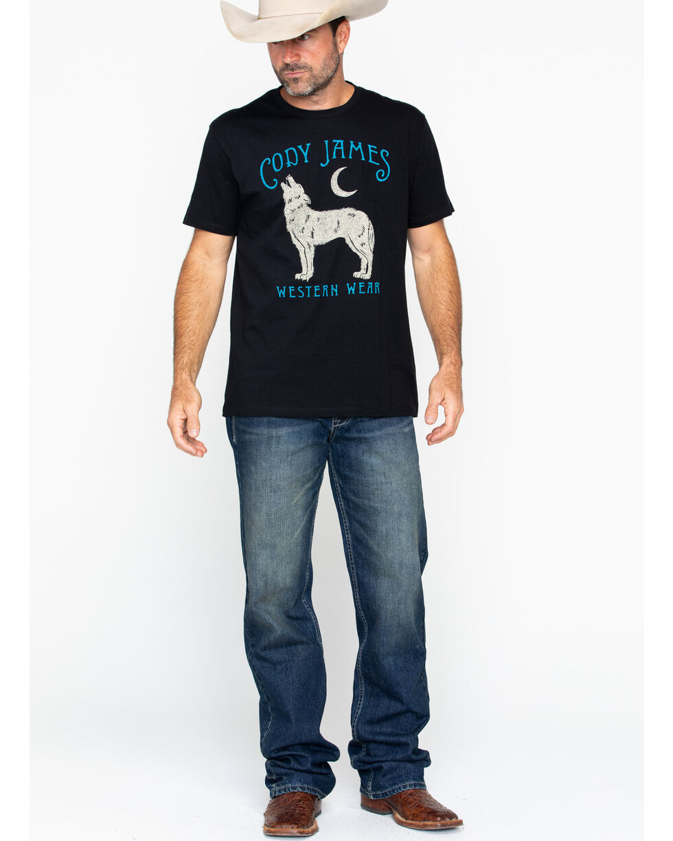 Cody James Men's Howl Short Sleeve T-Shirt, Black, hi-res