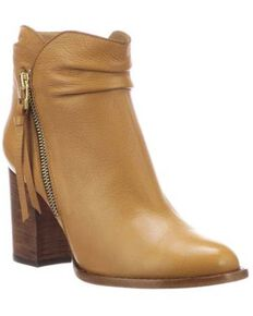 Lucchese Women's Britta Fashion Booties - Round Toe, Camel, hi-res