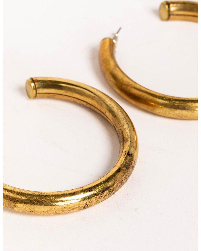 Idyllwind Women's Big Tex Brass Trustie Hoop Earrings, Gold, hi-res
